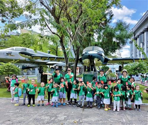 Clover Montessori students and teachers