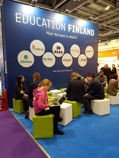 Education Finland stand at Bett 2018