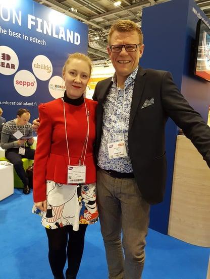 Anu Guttorm and Riku Alkio at Bett 2018