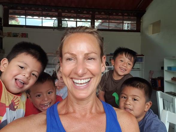 Romy with Guatemalan children