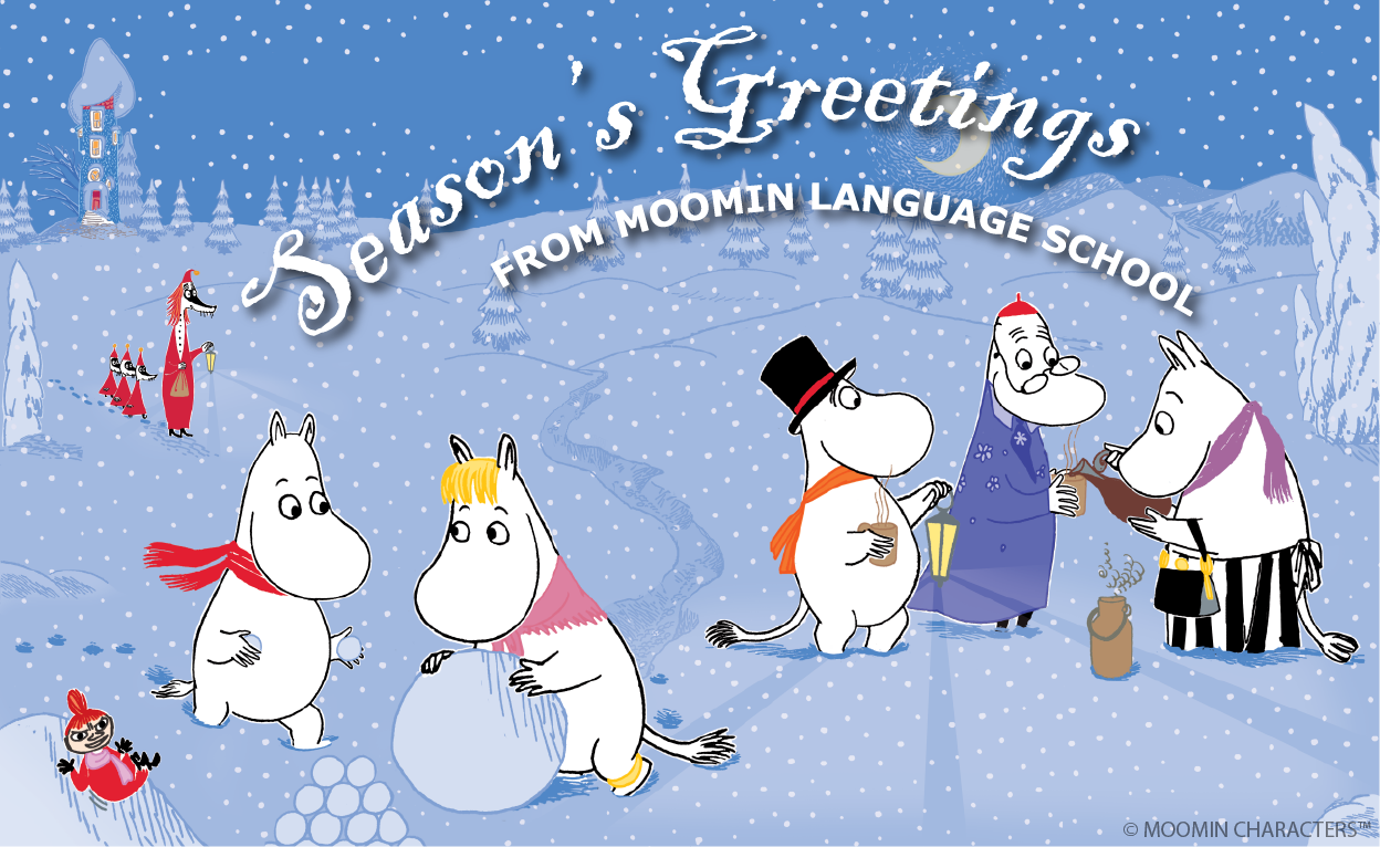 Season's Greetings from Moomin Language School
